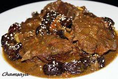 recette Tajine de boeuf aux pruneaux et graines de sésame