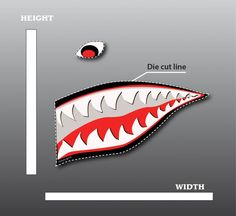 shark+mouth+graphic | shark teeth nose art the malicious grin of the sharks mouth found on ...
