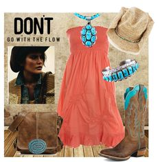 Cowgirl, created by obsessionss on Polyvore    turquoise jewelry at http://www.silvertribe.com
