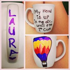 DIY mug, use sharpie put in oven at 425 for thirty minutes turn oven off and remove from oven after it cools.
