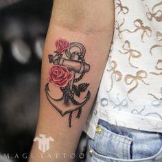 âncora - anchor tattoo - inked girl - tattoo feminina