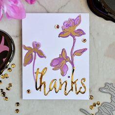 My last card for @altenewllc anniversary is a much cleaner then two previous one. But here I also used purple and gold. I made those amazing flowers kind of grow from gold thanks.  Последняя порция спама. Тут у меня опять золото и фиолет и спасибо, из которого растут цветочки.  #card #cardmaking#diy #handmade #papercrafts #открытка #кардмейкинг #скрап #скрапбукинг #ручнаяработа #altenew #altenewstamps #AltenewAnniversary