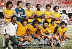 Awesome Brazil 1980 by mundialstyle Brazil Football Team, Brazil Team, God Of Football, Best Football Players, Retro Football, National Football Teams, Soccer Players, Brazil Brazil, World Cup Teams