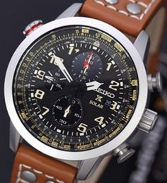 Seiko Men's Solar Chronograph Watch - In Stock, Free Next Day Delivery, Our Price: Buy Online Now Crown And Buckle, Seiko Solar, Slide Rule, Seiko Men, Seiko Watches, Stainless Steel Case, Chronograph, Watches For Men, Stuff To Buy