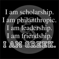 I am Greek. Love this! Cute Panhellenic t-shirt. Submit a quick quote on our website or e-mail besocial @ explosionsportswear .com for an Account Manager to contact you!