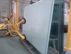 3+3 laminated safety glass with milky white PVB film.