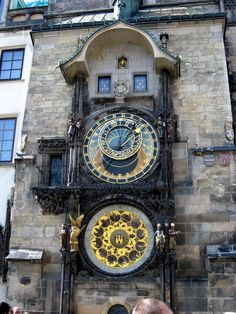 Clock : the Astrological Clock of Prague aka Prague Orloj (in Czech: Pražský orloj [praʃskiː orloj])