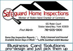 business card inspector and business card design rest assured