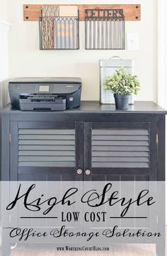 High Style - Low Cost Home Office Storage Solution || Worthing Court