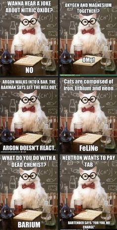 there's nothing like chem jokes