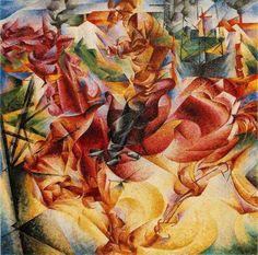 futurism art movement - Umberto Boccioni - Elasticity 1912