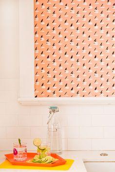 This DIY Fabric Wallpaper Is a Renter's Best Friend | Brit + Co