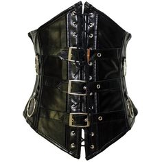 b521eb1121b Cuir Corsets Gothic Noir Underbust Corset ($17) ❤ liked on Polyvore  featuring intimates and