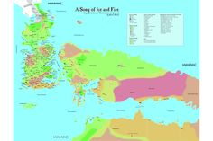 A Song of Ice and Fire...Westeros and Essos Map
