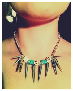 Kaaty MacDonald: DIY Spike and Skull Necklace