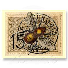 Vintage Bee Collage Postcard adore this Bee Images, I Love Bees, Bee Skep, Vintage Bee, Bee Gifts, Bee Art, Bee Happy, Bees Knees, Queen Bees