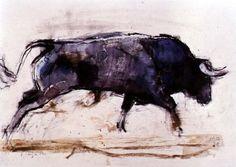 charging bull art   Charging Bull, 1998 Poster Art Print by Mark Adlington