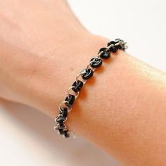 #black #buttons #bracelet