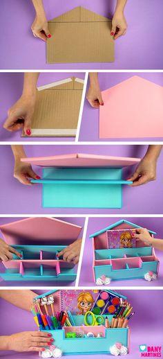 Cardboard Organizer, Paper Crafts Origami, Easy Origami, Diy Confetti, Baby Decor, Diy Organization, Diy Crafts For Kids, Diy Art, Diy Gifts