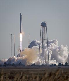 An Orbital Sciences Corporation Antares rocket is seen as it launches from Pad-0A at NASA's Wallops Flight Facility, Thursday, Jan. 9, 2014, Wallops Island, VA.