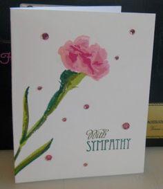 VA's Creative Clutter: Carnation Sympathy Card
