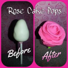 Rose Cake Pops perfect for Valentine's day. made with Modeling chocolate Modeling Chocolate, Rose Cake, How Sweet Eats, Cake Pops, Valentines Day, Sweets, Desserts, Valentine's Day Diy, Tailgate Desserts