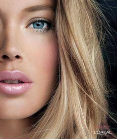 skin, eyes, lips & hair. Very nice
