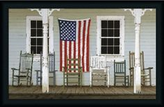 Fourth of July by Zhen-Huan Lu Art Print Poster Country USA American Flag 24x30