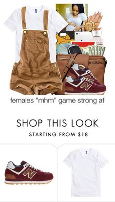 """Young Chari$ma- Rowdy"" by certifiedmirixm ❤ liked on Polyvore featuring New Balance and Pull&Bear"