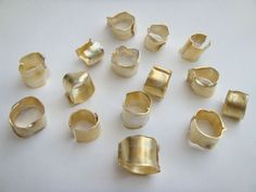 TAISUKE NAKADA, MY PIECES 2005: silver and gold leaf rings.