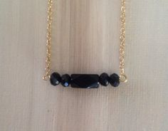 Simply beautiful faceted black Raise the Bar by lovelybylara, $20.00