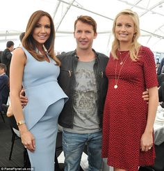 Party time: Sofia was sporting a sizable bump at the Loyal Foundation Sportsman's Lunch in  Sydney in October 2015 when the couple (pictured with Kyly Clarke) discussed the pregnancy for the first time