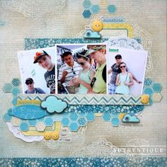 Summer Layout by Authentique Paper Design Team Member Shellye McDaniel
