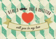"""Postkaart Really mustache you a question Poster """"I love you more than coffee"""". Een poster met een echte betekenis voor diegene die hem ontvangt ;-). Een Ribba lijst van IKEA erom en je poster kan aan de muur. Perfecte aanvulling voor elke woonkamer of keuken."""