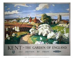 "This ""Kent The Garden Of england - Travel by Train"" photographic art print is created using state of the art, industry leading Digital printers. The result - a stunning reproduction at an affordable price."