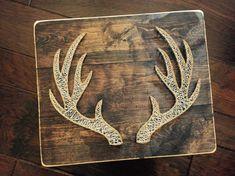 Deer Antler String Art by StringsAttachedKY on Etsy