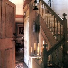 (notitle) - home interior ideas - Interieur Country Decor, Rustic Decor, Primitive Decor, Prim Decor, Country Homes, Rustic Chic, Rustic Wood, Saltbox Houses, Old Houses