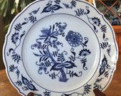 "Set of 2 - Blue Danube 8 3/4"" Salad Plates -  Rectangular Marking"