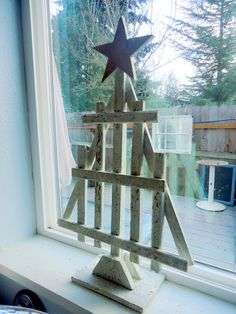 Vintage scrap wooden tree.  From Pondered Primed Perfected