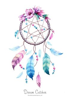 Arts And Crafts Chandelier Key: 6831055012 Dream Catcher Mandala, Dream Catcher Art, Dream Catcher Tattoo, Boho Dekor, Diy Tumblr, Feather Painting, Embroidery Designs, Diy Wall Art, Watercolor Art