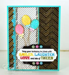 For the love of life: JustRite Papercrafts: Cupcake Wishes and Large Birthday Sentiments