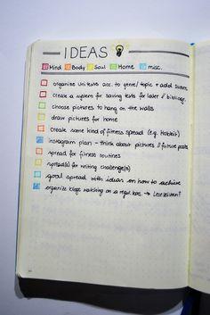 Meine Ideenliste oder auch Braindump fürs Bullet Journal
