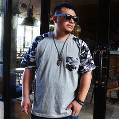 Aliexpress.com : Buy Fat jsmix planet plus size men's clothing x1259 plus size plus size Camouflage short sleeve T shirt from Reliable polo sport shirt suppliers on CHEN'S  STORE. $27.81 Mens Big And Tall, Big Men, Plus Size Mens Clothing, Men's Clothing, Big Fashion, Mens Fashion, Fashion Ideas, Camouflage Shorts, Sports Shirts