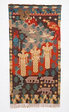 """Gerhard Munthe   Three Maidens   100"""" x 54.5""""   Norway   1910"""
