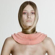 janine eisenhauer, paper neckpiece