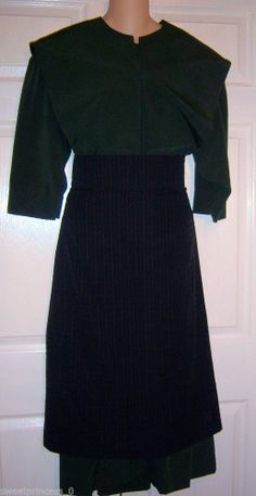 "Amish Dress Cape and Apron 40""B/36""W Authentic Pa. Dutch Amish Clothing #Dress #Fashion #Deal"