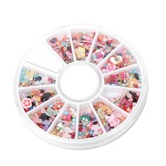 1200pcs Faux Pearl Flower Bowknot Nail Art Tips Decorations with wheel -- Check this awesome product by going to the link at the image. Note:It is Affiliate Link to Amazon.