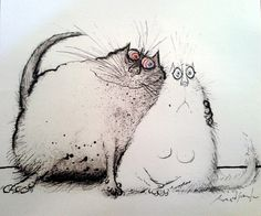 Ronald Searle - I do love his cats!