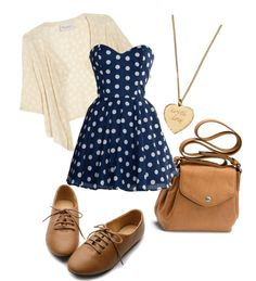 """Polka Dots"" by c-ozgesahin on Polyvore"