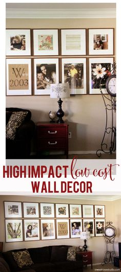 High Impact Low Cost Wall Decor at Sweet Rose Studio #interiordesign